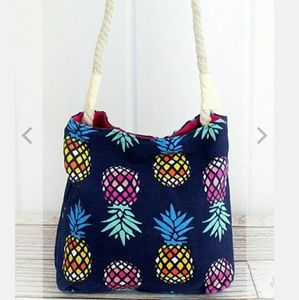 Handbags - New Navy & Pink Pineapple Crossbody Bag!